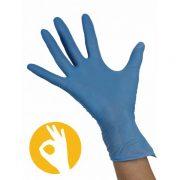 Nitril gepoederde blauwe handschoen