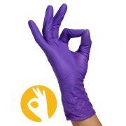 Nitril handschoenen poedervrij paars