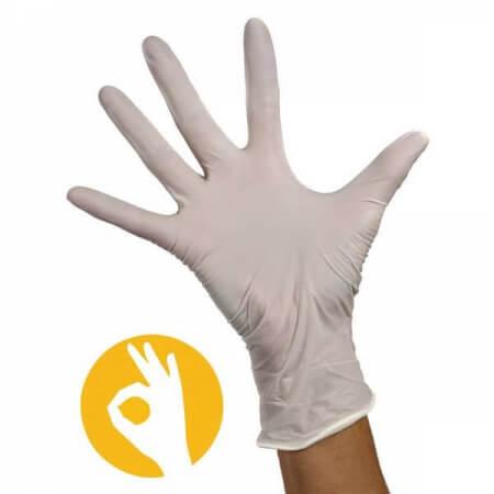 Nitril handschoenen wit poedervrij