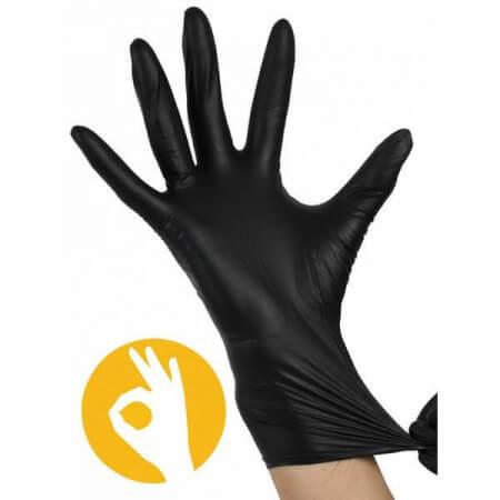 Nitril handschoenen zwart poedervrij