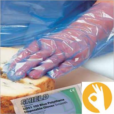 Poedervrije PE handschoen