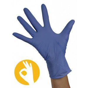 Stretch soft nitril handschoenen blauw
