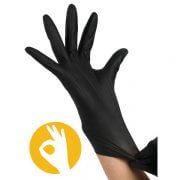 Stretch soft nitril handschoenen zwart