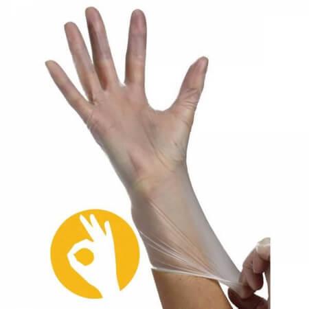 Vinyl handschoen poedervrij