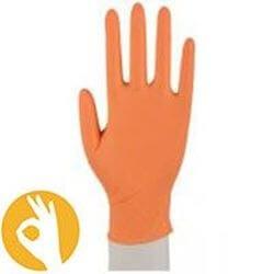 oranje nitril handschoen