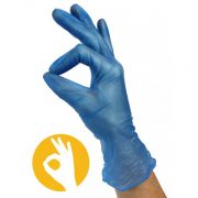 Non latex handschoenen blauw