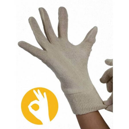 Katoenen handschoenen crème