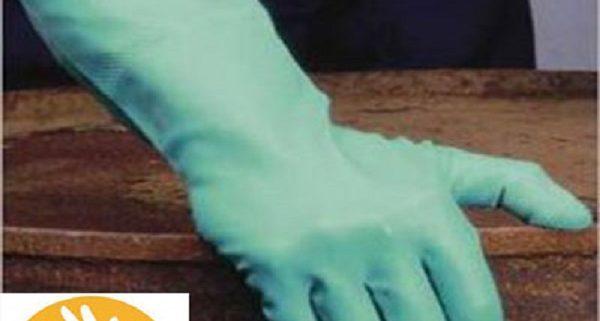 Industrie handschoen groen
