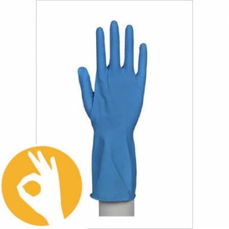latex blauwe huishoudhandschoen