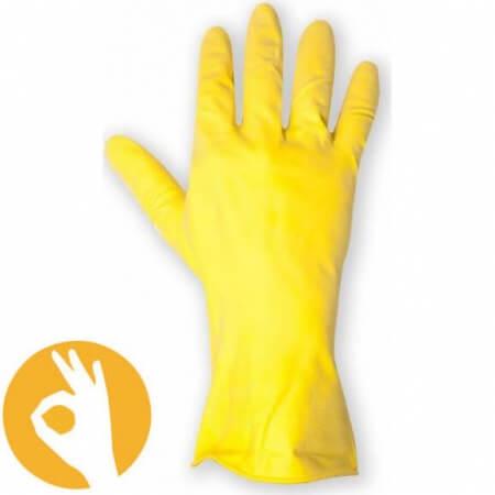 Huishoudhandschoenen geel