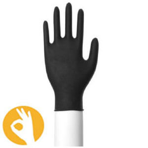 nitril handschoenen zwart classic poedervrij