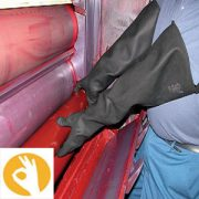 rubberen handschoenen