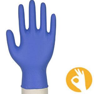 Nitril blauwe handschoen