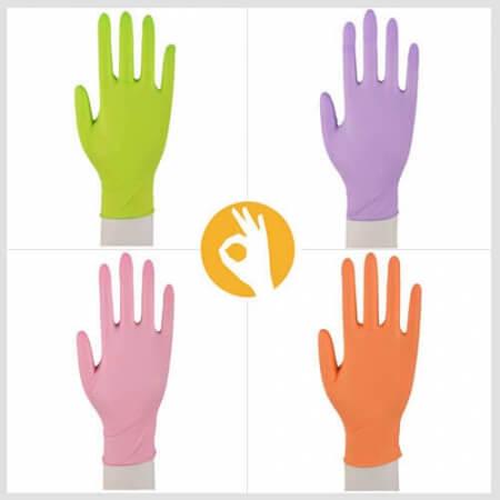 Nitril handschoenen in diverse kleuren