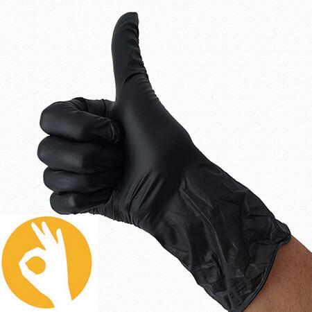 vitrile handschoenen zwart